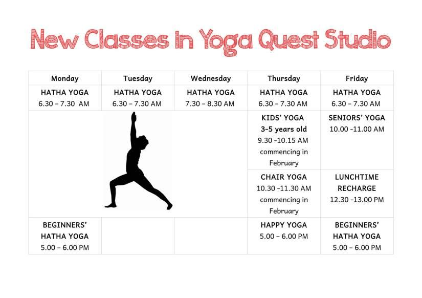classes in Yoga Quest